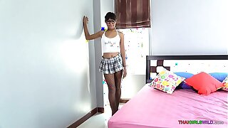 Barely 18 Thai girl feels the power of horny old man cock